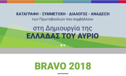 BRAVO2018. ΔΙΚΤΥΟ ΠΕΡΡΑΙΒΙΑ.