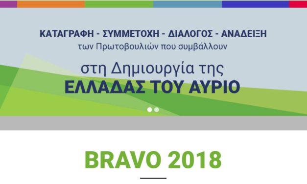 BRAVO 2018 – Γίνετε υποστηρικτές του Δικτύου «ΠΕΡΡΑΙΒΙΑ»