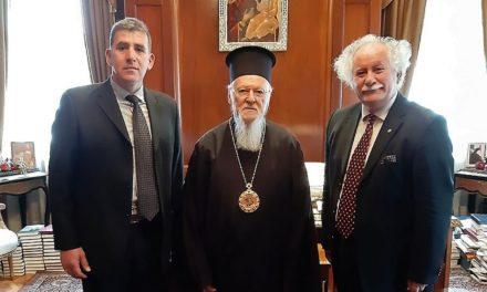 Σημαντικότατη συνάντηση εκπροσώπων του Δικτύου «ΠΕΡΡΑΙΒΙΑ» με τον Οικουμενικό Πατριάρχη  κ.κ. Βαρθολομαίο στην Κωνσταντινούπολη-Μεγάλη η ευαισθησία του Πατριαρχείου για τη διάσωση της Πολιτιστικής Κληρονομιάς του Ανθρώπου
