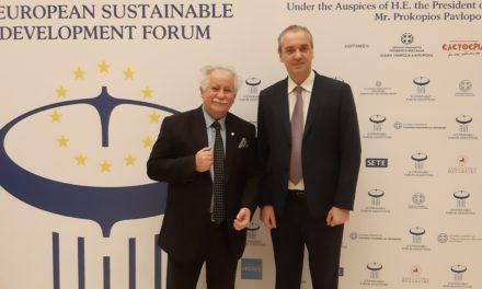 Μια ευχάριστη συνάντηση με τον Δήμαρχο Ελασσόνας κ. Νίκο Γάτσα στα πλαίσια του 2ου Αναπτυξιακού FORUM Θεσσαλίας στις 25- 26/1/2020 στο Divani Palace Λάρισας