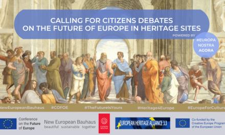 """Η Europa Nostra καλεί τους πολίτες σε συζητήσεις για το μέλλον της Ευρώπης σε χώρους πολιτιστικής κληρονομιάς-  Εκδήλωση στο Βόλο με πρωτοβουλία του Δικτύου """"Περραιβία"""" και του Ευρωπαϊκού Δικτύου Πολιτιστικού Τουρισμού-ECTN"""